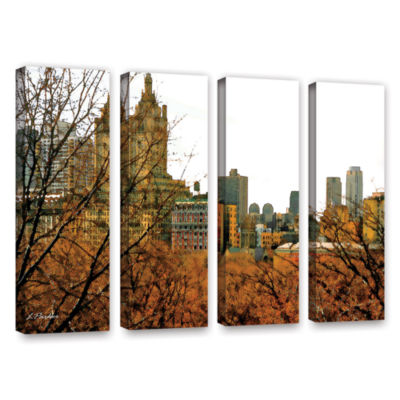 Brushstone Urban Autumn NYC 4-pc. Gallery WrappedCanvas Wall Art