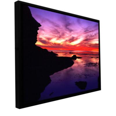 Brushstone Sunset Cliffs Twilight Gallery WrappedFloater-Framed Canvas Wall Art