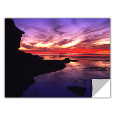 Brushstone Sunset Cliffs Twilight Removable Wall Decal