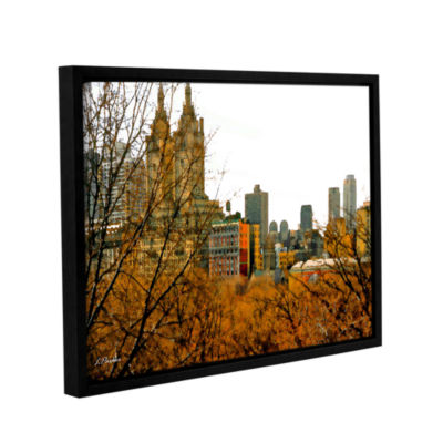 Brushstone Urban Autumn NYC Gallery Wrapped Floater-Framed Canvas Wall Art