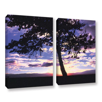 Brushstone Teton Meadow Sunrise 2-pc. Gallery Wrapped Canvas Wall Art
