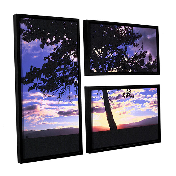 Brushstone Teton Meadow Sunrise 3-pc. Flag Floater Framed Canvas Wall Art