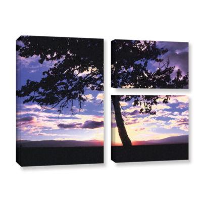 Brushstone Teton Meadow Sunrise 3-pc. Flag GalleryWrapped Canvas Wall Art