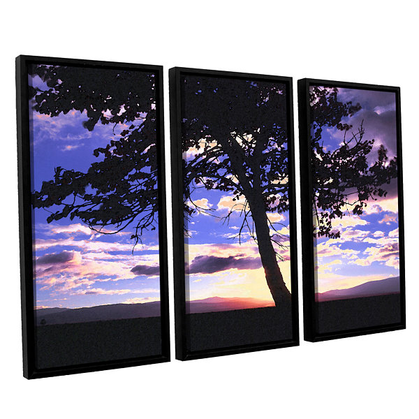 Brushstone Teton Meadow Sunrise 3-pc. Floater Framed Canvas Wall Art