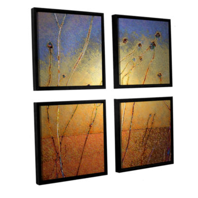 Brushstone Texas Sand Storm 4-pc. Square Floater Framed Canvas Wall Art