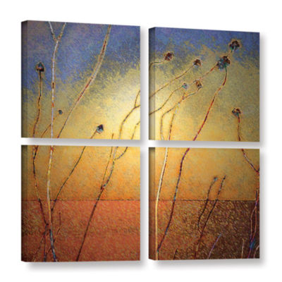 Brushstone Texas Sand Storm 4-pc. Square Gallery Wrapped Canvas Wall Art