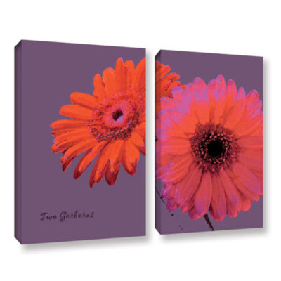 Brushstone Two Gerberas 2-pc. Gallery Wrapped Canvas Set