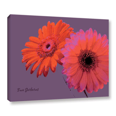 Brushstone Two Gerberas Gallery Wrapped Canvas