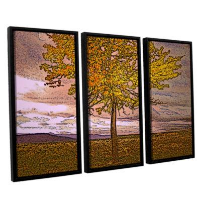 Brushstone Teton Meadow Fall 3-pc. Floater FramedCanvas Wall Art