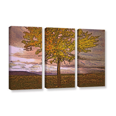 Brushstone Teton Meadow Fall 3-pc. Gallery Wrapped Canvas Wall Art