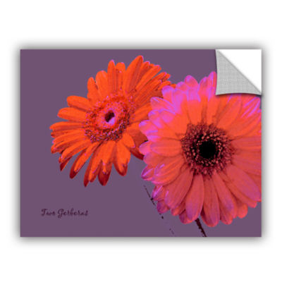 Brushstone Two Gerberas Removable Wall Decal