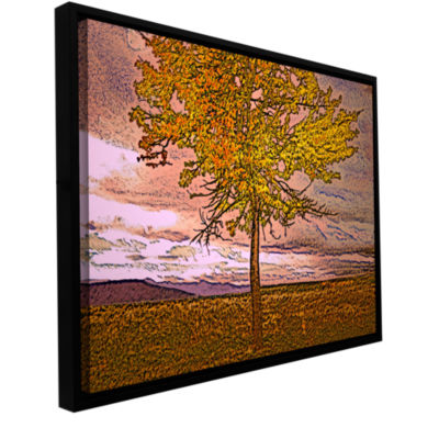 Brushstone Teton Meadow Fall Gallery Wrapped Floater-Framed Canvas Wall Art