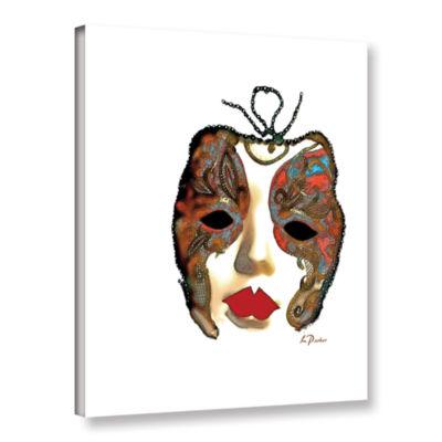 Brushstone Venetian Mask II Gallery Wrapped Canvas