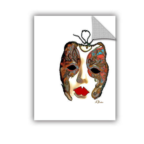 Brushstone Venetian Mask II Removable Wall Decal