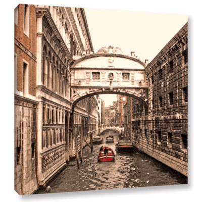 Brushstone Venice: Bridge Of Signs Gallery WrappedCanvas Wall Art