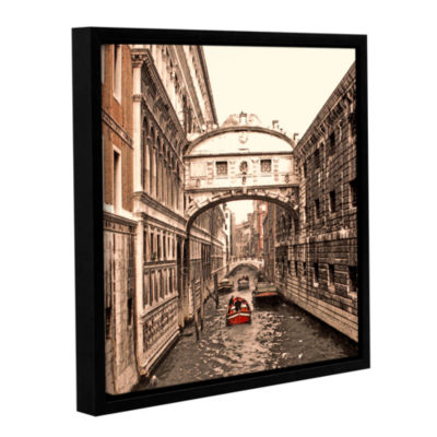 Brushstone Venice: Bridge Of Signs Gallery WrappedFloater-Framed Canvas Wall Art