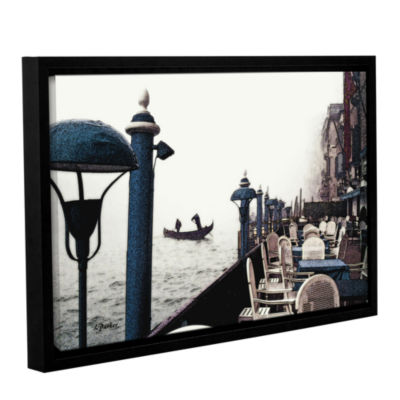 Brushstone Venice On Foggy Morn Gallery Wrapped Floater-Framed Canvas Wall Art
