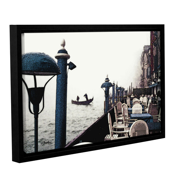 Brushstone Venice On Foggy Morn Gallery Wrapped Floater-Framed Canvas