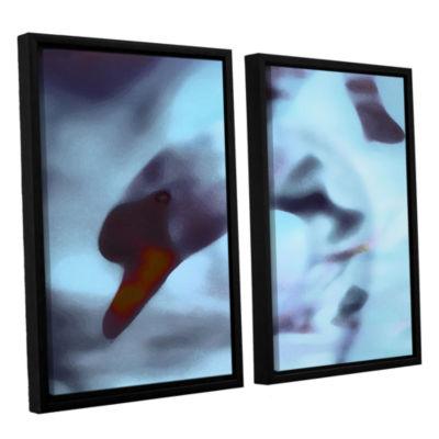 Brushstone Swan Impression 2-pc. Floater Framed Canvas Wall Art