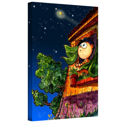 Brushstone UFO Kid 1 Gallery Wrapped Canvas