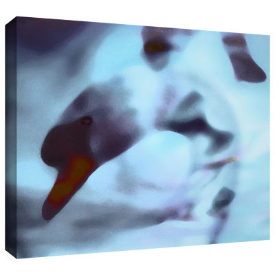 Brushstone Swan Impression Gallery Wrapped CanvasWall Art