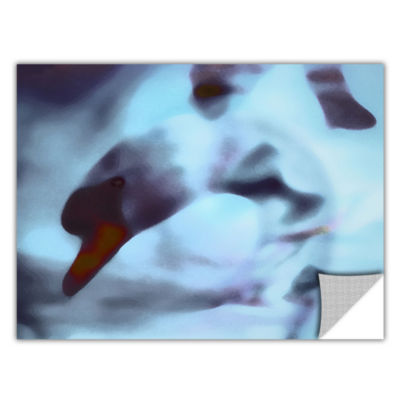 Brushstone Swan Impression Removable Wall Decal