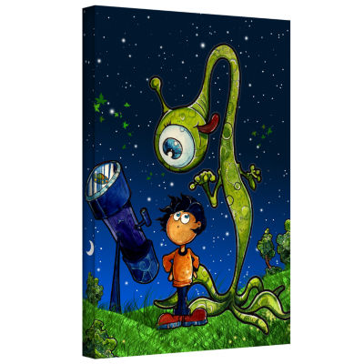 Brushstone UFO Kid 2 Gallery Wrapped Canvas