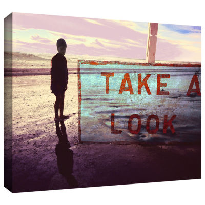 Brushstone Take A Look Gallery Wrapped Canvas WallArt