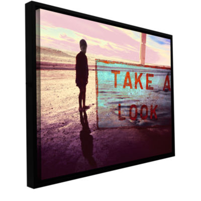 Brushstone Take A Look Gallery Wrapped Floater-Framed Canvas Wall Art