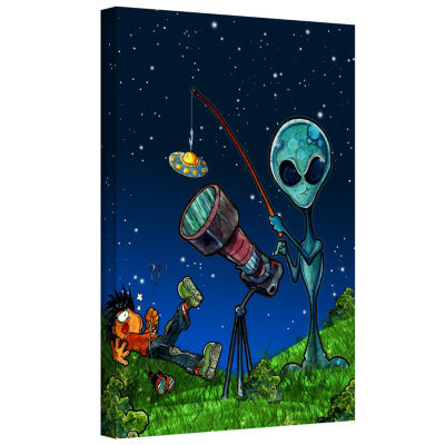 Brushstone UFO Kid 3 Gallery Wrapped Canvas