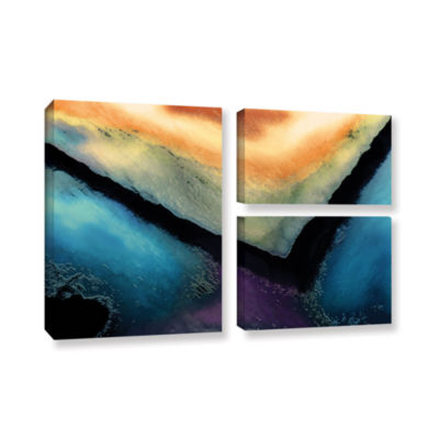 Brushstone The Brink 3-pc. Flag Gallery Wrapped Canvas Wall Art