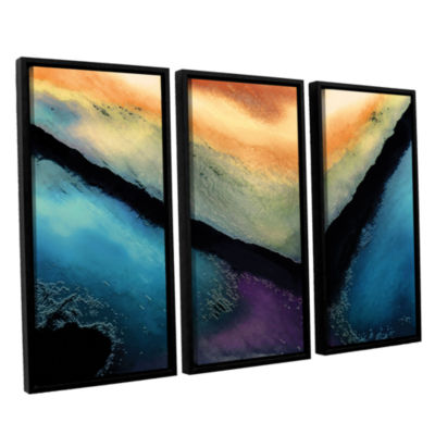 Brushstone The Brink 3-pc. Floater Framed Canvas Wall Art