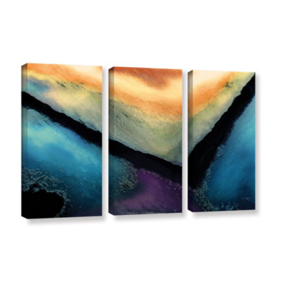Brushstone The Brink 3-pc. Gallery Wrapped CanvasWall Art