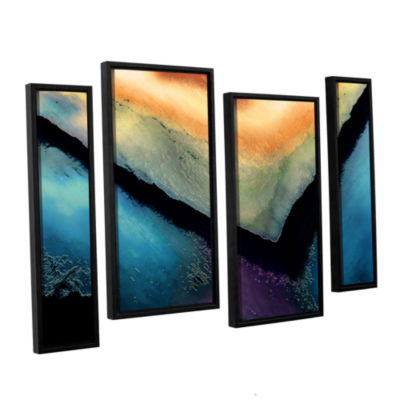 Brushstone The Brink 4-pc. Floater Framed Staggered Canvas Wall Art
