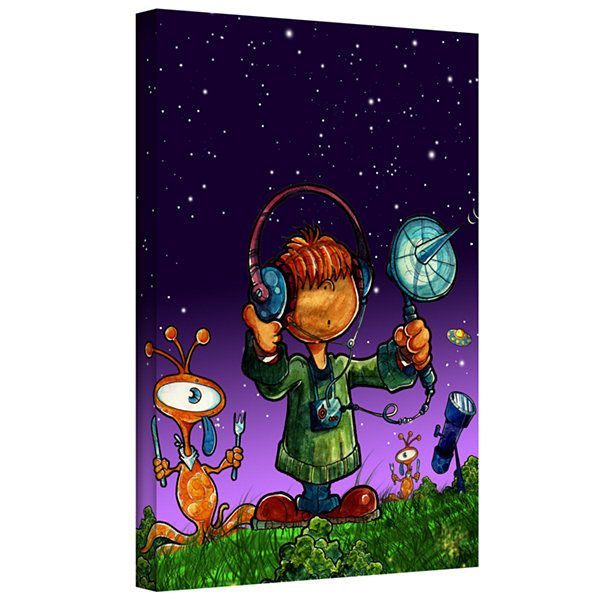 Brushstone Ufo Kid 4 Gallery Wrapped Canvas Wall Art