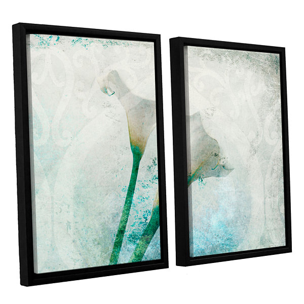 Brushstone Two Calla Lilies 2-pc. Floater Framed Canvas Wall Art