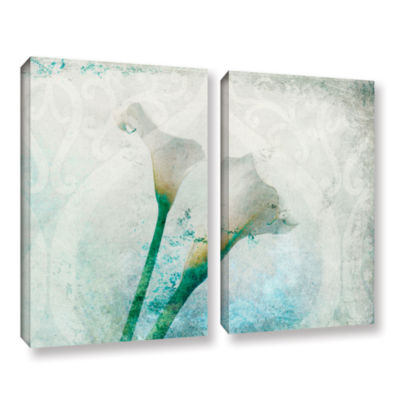Brushstone two Calla Lilies 2-pc. Gallery WrappedCanvas Set
