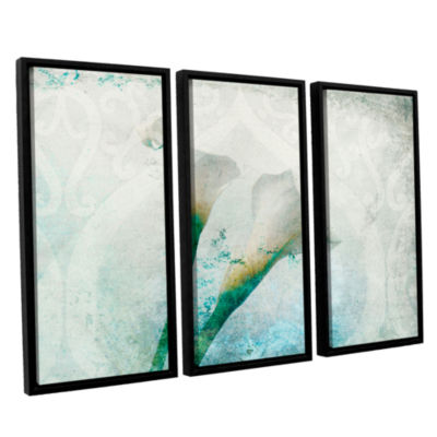 Brushstone Two Calla Lilies 3-pc. Floater Framed Canvas Set