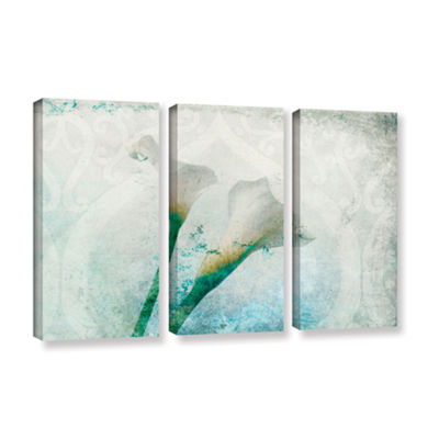Brushstone two Calla Lilies 3-pc. Gallery Wrapped Canvas Set