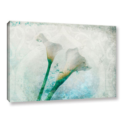 Brushstone Two Calla Lilies Gallery Wrapped CanvasWall Art