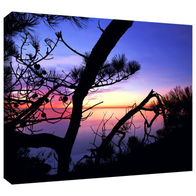 Brushstone Sunset Forest Gallery Wrapped Canvas Wall Art