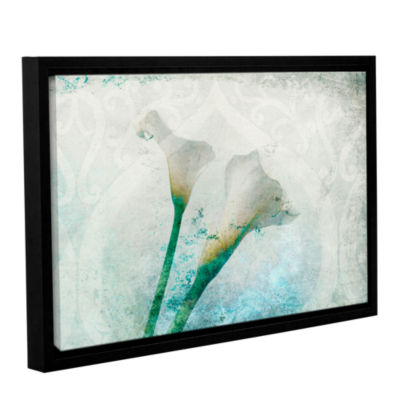 Brushstone Two Calla Lilies Gallery Wrapped Floater-Framed Canvas Wall Art