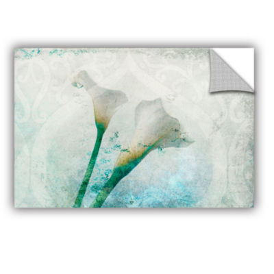 Brushstone Two Calla Lilies Removable Wall Decal