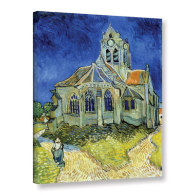 Brushstone The Church At Auvers Gallery Wrapped Canvas Wall Art