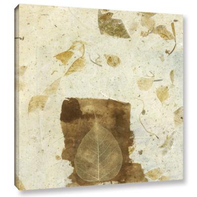 Brushstone Wabi-Sabi Bodhi Leaf Collage 1 GalleryWrapped Canvas