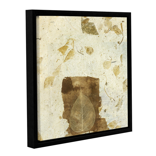 Brushstone Wabi-Sabi Bodhi Leaf Collage 1 GalleryWrapped Floater-Framed Canvas Wall Art