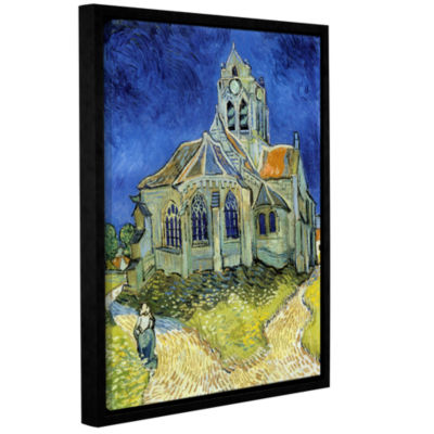 Brushstone The Church At Auvers Gallery Wrapped Floater-Framed Canvas Wall Art