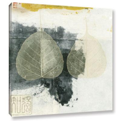 Brushstone Wabi-Sabi Bodhi Leaf Collage 4 GalleryWrapped Canvas