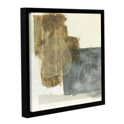 Brushstone Wabi-Sabi Bodhi Leaf Collage 5 GalleryWrapped Floater-Framed Canvas