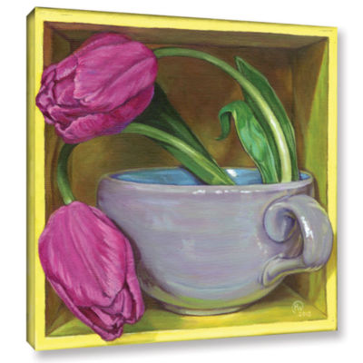Brushstone Tea & Tulips Gallery Wrapped Canvas Wall Art